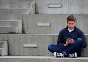 FOMO Texting teen